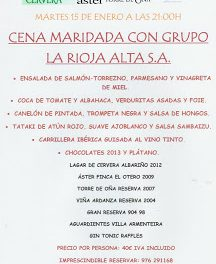 Cena maridada (martes, 15)
