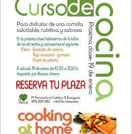Taller de cocina en La Natural (sábado, 19)