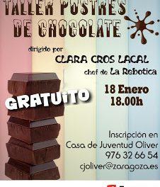 Taller de postres de chocolate (viernes, 18)