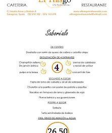 Menú semanal en El Trasgo (del martes, 8, al viernes, 12)