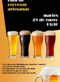 Cata de cervezas artesanas (martes, 29)