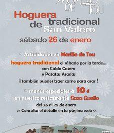 Hoguera de san Valero (sábado, 26)