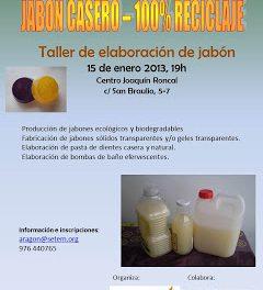 Taller de elaboración de jabón casero (martes, 15)