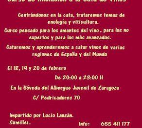 Curso de cata de vinos (del 18 al 20 de febrero)