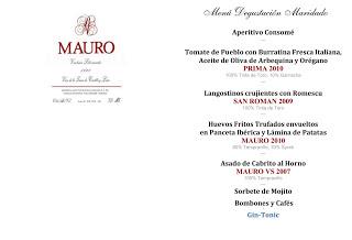 Cena maridada con Mauro (miércoles, 27)