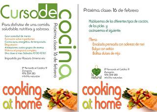 Taller de cocina en La Natural (sábado, 16)