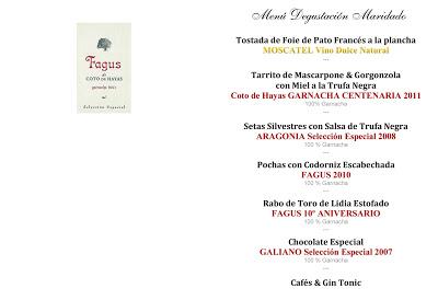 Cena maridada con garnachas (jueves, 7)