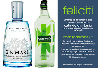 Cata de gin-tonic en Feliciti (martes, 12)