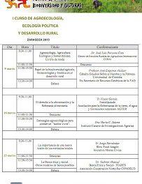 I Curso de agroecología, ecología política y desarrollo rural (sábados, del 9 al 23 de marzo)