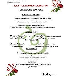 Menú de san Valentín en la Gastrosidrería (del 14 al 17)