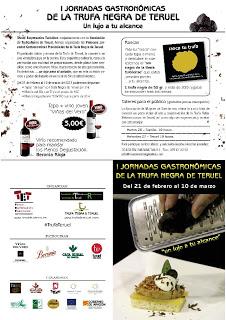 Primeras Jornadas Gastronómicas de la Trufa Negra de la provincia de Teruel (hasta el 10 de marzo)