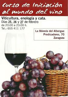 Curso de iniciación al mundo del vino de El Broquel (del 25 al 27 de febrero)