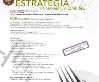 Taller sobre el desarrollo online en hostelería (lunes, 25)