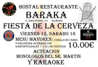 Fiesta de la cerveza (viernes, 15, y sábado, 16)