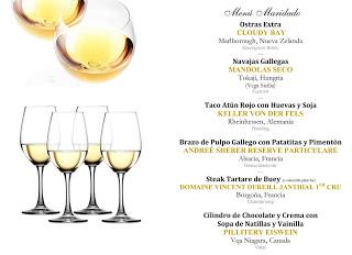 Cena maridada con los mejores blancos del mundo (jueves, 14)