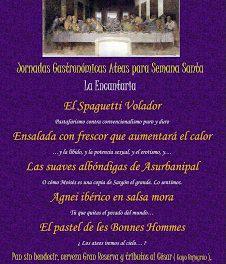 Jornadas Gastronómicas Ateas para Semana Santa (del 25 de marzo al 7 de abril