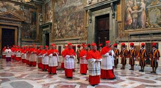 Cena a modo de Conclave (jueves, 7)