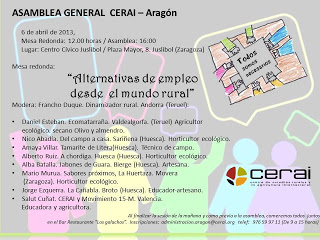 Mesa redonda y asamblea de Cerai (sábado, 6)