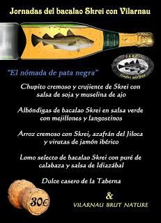 Jornadas del bacalao skrei con Vilarnau en María Morena (marzo)