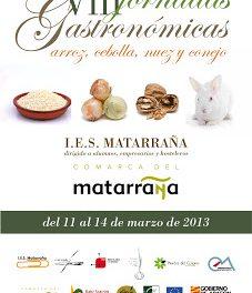 VIII Jornadas Gastronómicas del IES Matarraña (del 11 al 14)