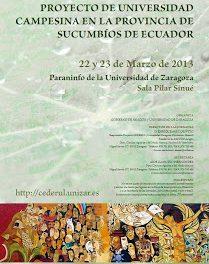 Jornadas de difusion del proyecto de Universidad Campesina (días 22 y 23)