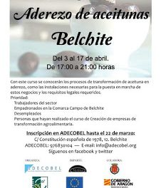 Curso de aderezo de aceituna (del 3 al 17 de abril)