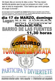 Concurso de tortillas con patata (domingo, 17)