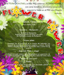 Cena temática Flower Power en Aínsa (viernes, 3)
