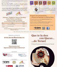 Tertulias en inglés sobre queso (7 y 9 de mayo)