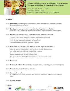 Jornada Colaboración Horizontal en el Sector Alimentación: Una oportunidad de Competitividad en Aragón (miércoles, 17)