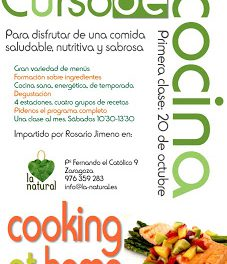 Curso de cocina en La Natural (sábado, 20)