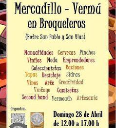 Mercadillo vermú en Broqueleros (domingo, 28)