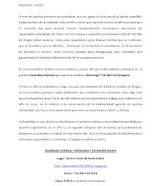 Asamblea general de la Red de semillas de Aragón (domingo, 7)