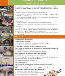 Jornada en la Facultad de Veterinaria sobre cómo innovar en ciencia y tecnología de los alimentos (martes, 7)