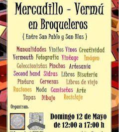 Mercadillo vermú en Broqueleros (domingo, 12)