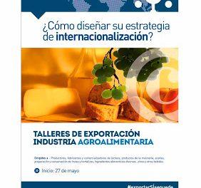 Talleres de exportación para la industria agroalimentaria (del 27 de mayo al 24 de junio)