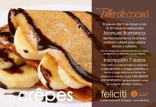 Taller de cocina en Feliciti (jueves, 9 de mayo)