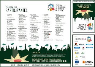 IX Edición del concurso de bocadillos de ternasco en Zaragoza (del 23 de mayo al 2 de junio