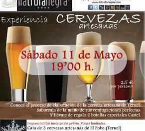 Degustación de cervezas de El Pobo (Teruel) 11 de mayo
