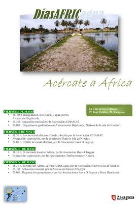 Conociendo África a través de la ONG Africagua y CERAI. 10, 17 y 24 de mayo)
