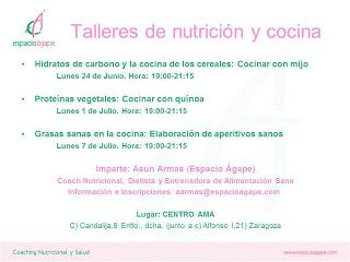 Taller de nutrición y cocina (lunes, 24)