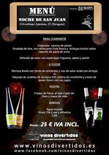 Cena de san Juan (jueves, 20)