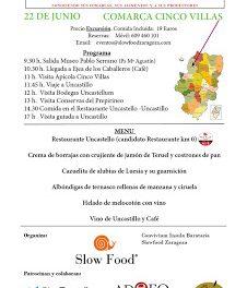Excursión Slow Food a las Cinco Villas (sábado, 22)