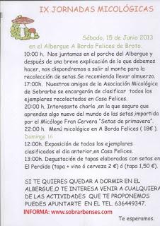 IX Jornadas Micológicas (sábado, 15)