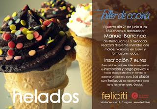 Taller de helados en Feliciti (jueves, 27 de junio)