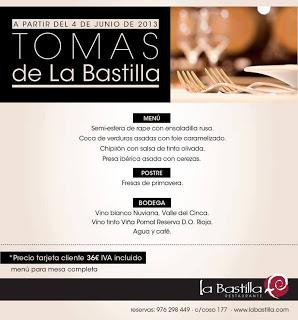 Tomas de La Bastilla estivales (verano)