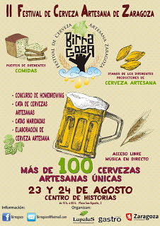 Birragoza. II Festival de Cervezas artesanas de Zaragoza (23 y 24 de agosto)