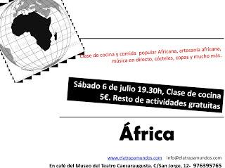 Fiesta africana en el Atrapamundos (sábado, 6)