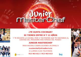 Casting para Master Chef Junior (septiembre)