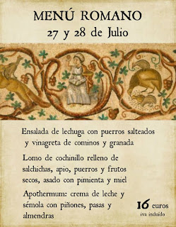Menú romano en Uncastelo (27 y 28 de julio)